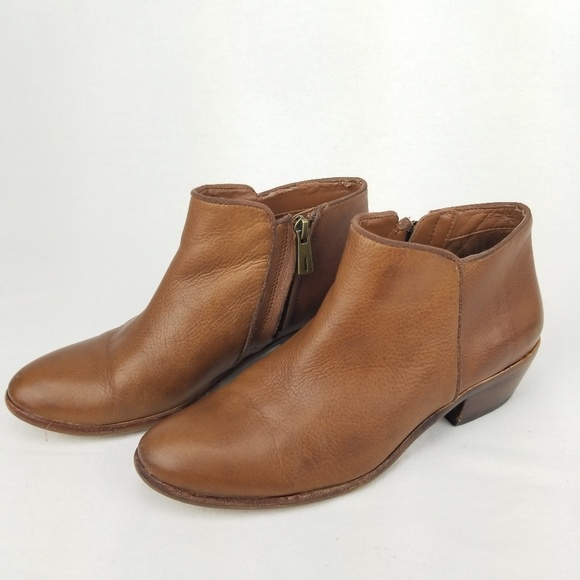 beea32fc31b8f5 Sam Edelman Petty Ankle Bootie 7.5 Saddle Leather.  M 5bf05549194dad918ea39705